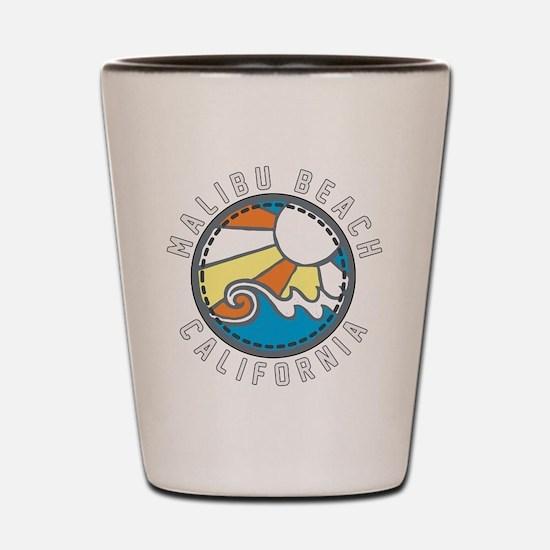 Malibu Wave Badge Shot Glass