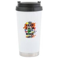 Keep Calm and Make Art Travel Mug