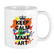 Keep Calm and Make Art Mug