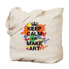 Keep Calm and Make Art Tote Bag