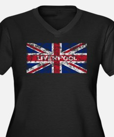 Liverpool2 Women's Plus Size V-Neck Dark T-Shirt