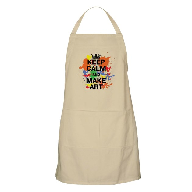 Keep Calm And Make Art Apron By Anabellstar