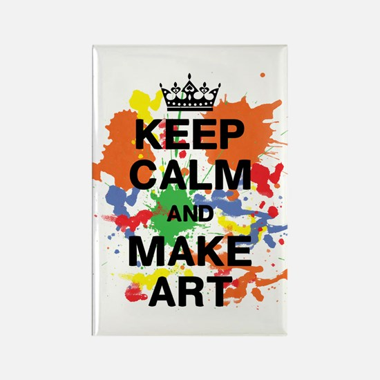 Keep Calm and Make Art Rectangle Magnet