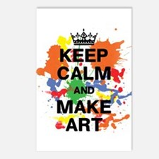 Keep Calm and Make Art Postcards (Package of 8)