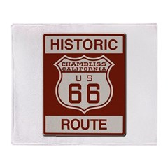 Chambliss Route 66 Throw Blanket