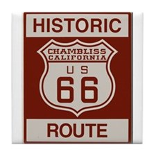 Chambliss Route 66 Tile Coaster