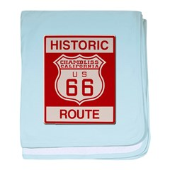 Chambliss Route 66 baby blanket