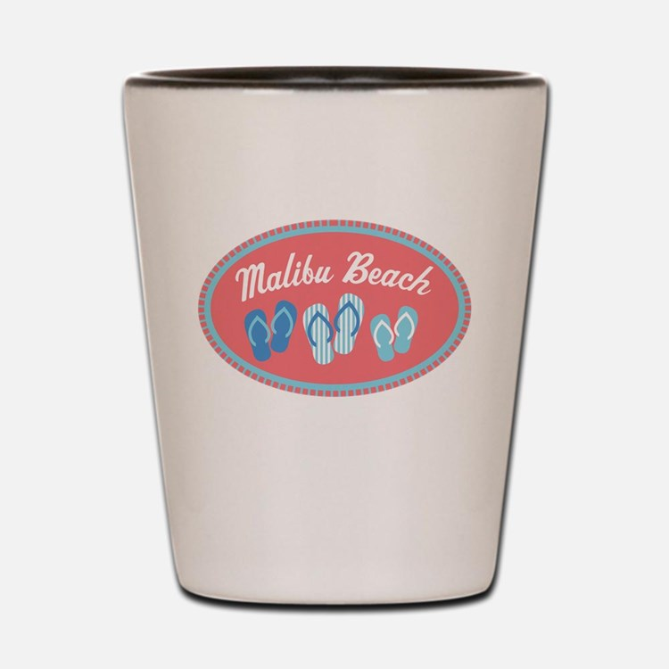 Malibu Sandal Badge Shot Glass