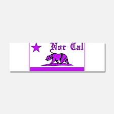 nor cal bear purple Car Magnet 10 x 3
