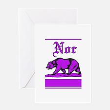 nor cal bear purple Greeting Card