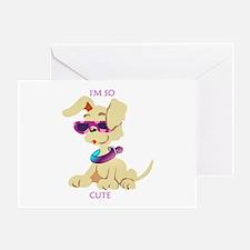 Dog So Cute Greeting Card