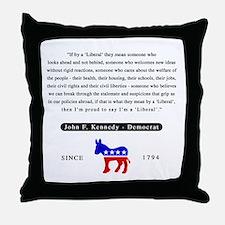 J.F.K. Throw Pillow