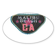 Malibu Boardwalk Badge Decal