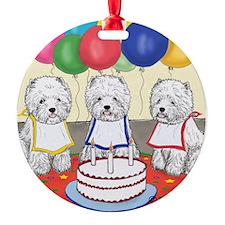 Birthday Party Westies Ornament
