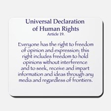 Freedom of Expression Mousepad