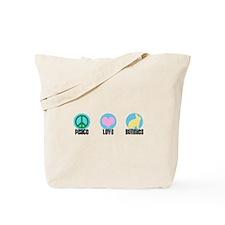 Peace Love Bunnies Tote Bag