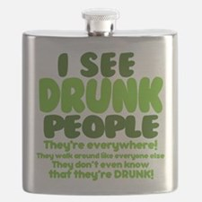I See Drunk People Flask