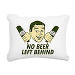 No Beer Left Behind Rectangular Canvas Pillow