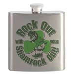 Rock Out With Your Shamrock Out Flask
