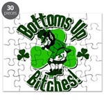 Bottoms Up Bitches Leprechaun Puzzle