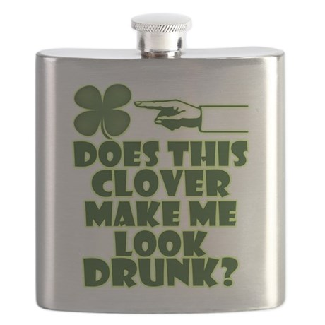 Does This Clover Make Me Look Drunk? Flask