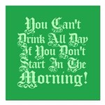 "tilyoudrinkallday.png Square Car Magnet 3"" x 3"""