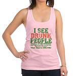 23465 I see DRUNK People dark.png Racerback Tank T