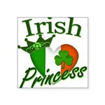 "IrishPrincessflag2011.png Square Sticker 3"" x 3"""