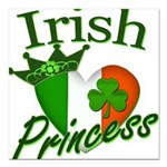 "IrishPrincessflag2011.png Square Car Magnet 3"" x 3"