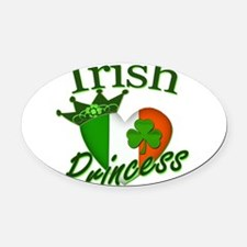 IrishPrincessflag2011.png Oval Car Magnet