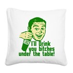 Under the table3.png Square Canvas Pillow