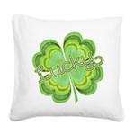 luckyvintage.png Square Canvas Pillow