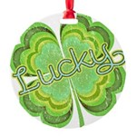 luckyvintage.png Round Ornament