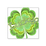 """luckyvintage.png Square Sticker 3"""" x 3"""""""