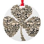 Shamrock Skulls Round Ornament