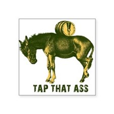 """tapthatassbrownyellow.png Square Sticker 3"""" x 3"""""""