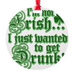 notirishgreen.png Round Ornament