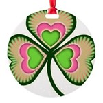 shamrock.png Round Ornament