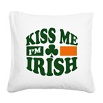 Kiss Me Im Irish.png Square Canvas Pillow
