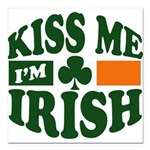 "Kiss Me Im Irish.png Square Car Magnet 3"" x 3"""