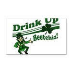 drink up beetchizWhite.png Rectangle Car Magnet