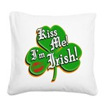 KissMeImIrish6.png Square Canvas Pillow