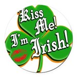 KissMeImIrish6.png Round Car Magnet