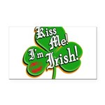 KissMeImIrish6.png Rectangle Car Magnet