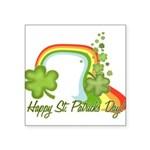 Happy St Patrick's Day Rainbo Square Sticker 3&quo