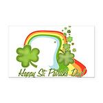 Happy St Patrick's Day Rainbo Rectangle Car Magnet