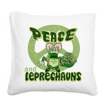 green peace love and leprechauns.png Square Canvas