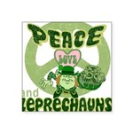 green peace love and leprechauns.png Square Sticke