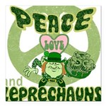 green peace love and leprechauns.png Square Car Ma