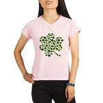 Shamrocks in a Shamrock Performance Dry T-Shirt